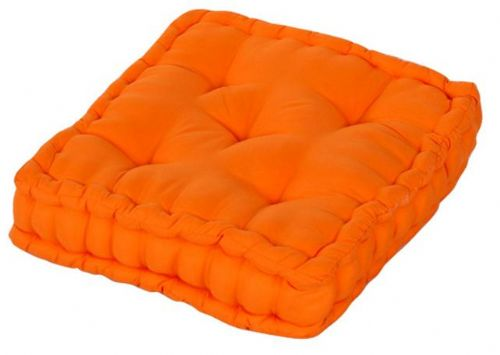 PLAIN ORANGE COLOUR MICROFIBRE DINING / GARDEN CHAIR BOOSTER CUSHION SEAT PAD
